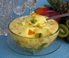 Mousse salada de frutas