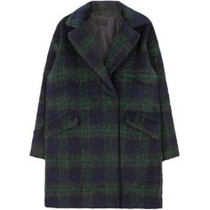 Tartan Check Coat ($45) ❤ liked on Polyvore featuring outerwear, coats, jackets, clothes - outerwear, plaid coat, long sleeve coat, bunny coat, tartan coat and fur-lined coats