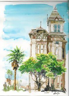 Watercolor Building by bboyfenix17 on DeviantArt