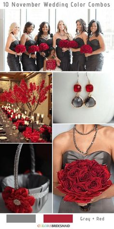 10 Gorgeous November Wedding Color Palettes in 2018 - . 10 Gorgeous November Wedding Color Palettes in 2018 – Grey Wedding Theme, Gray Wedding Colors, Wedding Color Schemes, Purple Wedding, Wedding Themes, Wedding Ideas, Wedding Planning, Dream Wedding, Gothic Wedding