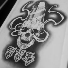 #mulpix TTB!  #skull @skulls_art @top.draw @tattooed_body_art @skulls_art  #skulls  #evil  #blackandgrey  #pencil  #drawing  #drawingbook  #barberpole  #ttb  #tattooartist  #sketch  #sketches  #barberlife