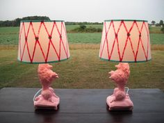 pink poodle lamps