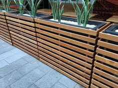 #woodengardenplanters Diy Wooden Planters, Large Outdoor Planters, Balcony Planters, Garden Planter Boxes, Modern Planters, Wooden Diy, Wooden Garden, Outdoor Flower Boxes, Backyard Planters
