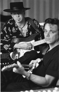 Stevie Ray and Jimmie Vaughn