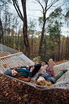 Blake has a hammock