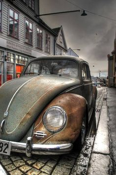 VW beetle - gorgeous picture! I'd frame that.