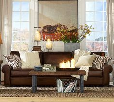 Turner Leather Roll Arm Sofa | Pottery Barn It will be mine, oh yes, it will be mine.