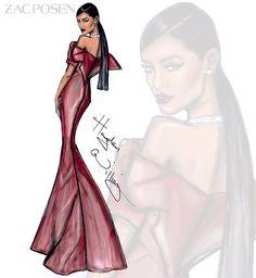 Rihanna in Zac Posen for her Diamond Ball by Hayden Williams