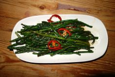Long Beans with Red Chilis brings an asian twist and some yummy veges to an awesome meal Beauty and Essex