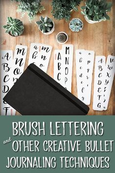 Click over here to find brush lettering tips, tricks and supplies. Brush letter now! Bullet Journal Gifts, Bullet Journal Christmas, Creative Lettering, Brush Lettering, Hand Lettering, Secret Santa Gift Exchange, Tombow Markers, You Doodle, Bullet Journal Inspiration