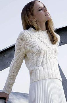 Ras de cou torsades tricoté main