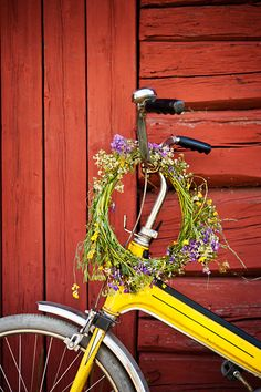 Swedish Summer. Make a wreath for your hair out of flowers.