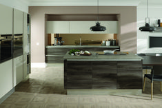 Spa Fields handless kitchen in Tobacco Elm & Cashmere http://www.daval-furniture.co.uk/spa-fields/