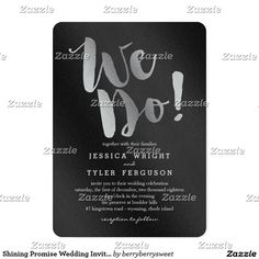 Shining Promise Wedding Invitations Silver