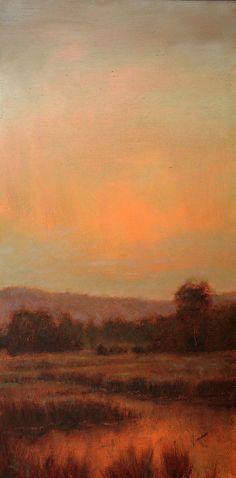 Sanguine Sky by Michael Orwick Oil ~ 36 x 18