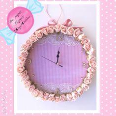 Ρολόι χειροποίητο! Handmade wall clock by Aderfes Spyropoulou!