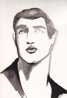 Portrait Illustration by Amelie Hegardt, pinned by Modeconnect.com