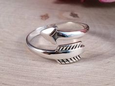 Arrow Ring, Sterling Silver Arrow Ring, Adjustable Arrow Ring, Arrow Jewelry…