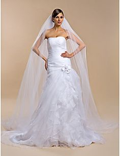 Wedding Veil One-tier Cathedral Veils. Get unbelievable discounts up to 70% Off at Light in the Box using Coupons.