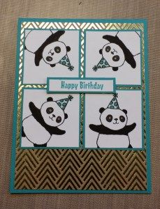 "So many exciting items in our new Sale-A-Bration catalog with Stampin'Up it was hard to decide what I would start with, however the Pandas won!  I love them and could not wait to start making some cards so I made three! I made the standard size card, 4 1/4 by 5 1/2 and cut the … Continue reading ""Sale-A-Bration Kickoff Blog Hop"""