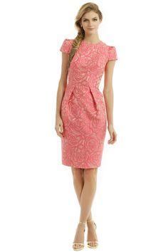 Rosette Envelope Dress by Carmen Marc Valvo for $55 | Rent the Runway