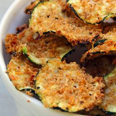 Oven Baked Zucchini Chips… substitute gluten free bread crumbs and leave off parmesan cheese for AIP Paleo