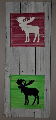 Barnboard with moose - Google Search