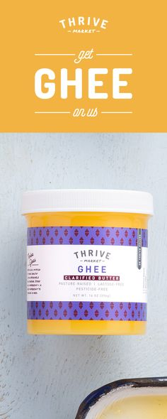 Want the best 100% pasture-raised ghee? Enjoy your FREE jar today at Thrive Market! On a mission to make healthy living easy and affordable for everyone, Thrive Market offers premium, organic foods and healthy products up to 50% off every day with delivery right to your door. Get your FREE ghee today while supplies last, and start saving!