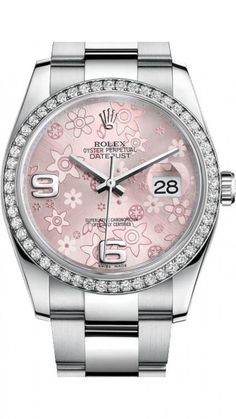Rolex 116244 pink Datejust Ladies 36 mm. #rolex