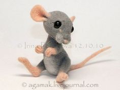 "Felting. Copyright toys Irina Polyakova - ""Little Mouse"""