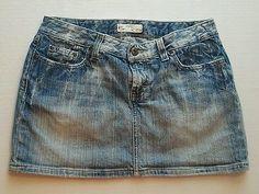 BKE Buckle Mini Blue Jean Skater Skirt Size 29 9 Juniors or 6 Womens   eBay Shopping