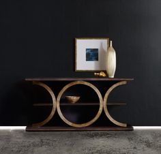 H.  MELANGE PRESIDIO CONSOLE TABLE - IN ROOM.  Come closer to Mélange, and you will discover something unexpected, an eclectic blending of colors, textures and materials in a vibrant collection of one-of-a-kind artistic pieces.
