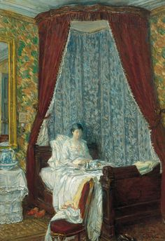 'The French Breakfast' (1910) by Childe Hassam