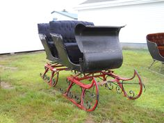Horse drawn two bench sled.     https://www.youtube.com/user/Viewwithme