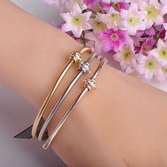 2016 Fashion Flexible Three Colors Bracelets& Bangles Brand Women Lovers Bijoux Holiday Accessories Pulseira Mujer Free Shipping  #bracelets #jewelrysets #bridal #earrings #pendants #jewellery #chain #weddingjewelry #weddingbands #jewelry