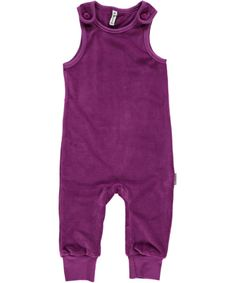 Maxomorra Organic velour play suit - Purple Retro Baby Clothes - Baby Boy clothes - Danish Baby Clothes - Smafolk - Toddler clothing - Baby Clothing - Baby clothes Online