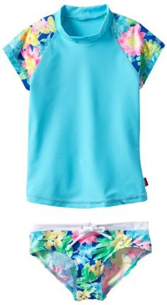 Seafolly Girls 7-16 Tropical Crush Floral Surf Swimsuit Set - Listing price: $56.20 Now: $44.49