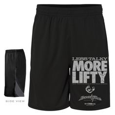 Less Talky More Lifty Bodybuilding Gym Shorts Black
