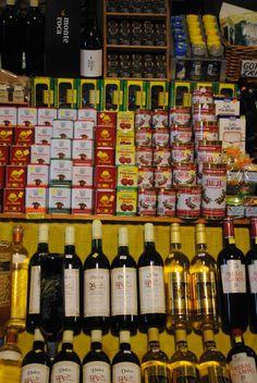 Food market in San Mateo, fruit, vegetable, herbs, wine etc.