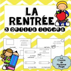 This set of 3 Emergent Reader mini-books features vocabulary just perfect for a Back to School Theme!  Each book is designed to be photocopied front to back to make a mini-book out of one sheet of paper!  Students are able to practice a variety of French Sight Words with these fun books!