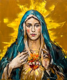 Cor Maria Sacratissimum Framed Art Print by castrillo Christian Paintings, Christian Artwork, Divine Mother, Blessed Mother Mary, Religious Images, Religious Art, Virgin Mary Art, Jesus Is Life, Jesus Wallpaper