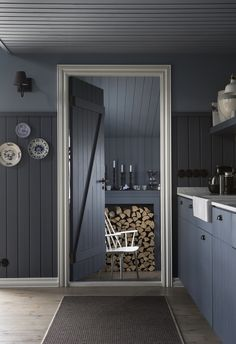 Entire home/apt in Borgarnes, Iceland. Enjoy a memorable and relaxing stay at a beautiful Icelandic timber house, decorated in a mixture of modern and old style. Magnificent views over t. Scandinavian Home Interiors, Scandinavian Kitchen, Half Painted Walls, House By The Sea, Timber House, Boutique Homes, Open Plan Living, Beautiful Interiors, Renting A House