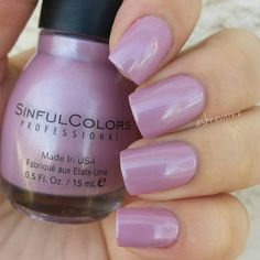 Sinful Colors 'Rose Dust' - Light dusty pinky-mauve with subtle silver shimmer #nail polish / lacquer | swatch @ashnevarez