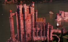 The best depiction of the Red Keep I've ever seen Fantasy Town, Fantasy Art, King's Landing Map, Game Of Thrones Map, Minecraft Medieval, The Darkling, Fantasy Illustration, Fire And Ice, Fantasy Landscape