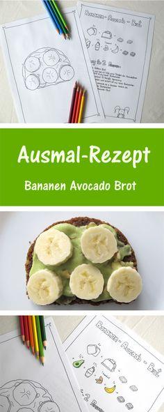 Ausmal-Rezept: Bananen-Avocado-Brot