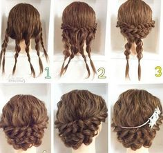 This pigtail hairstyle is beautiful. I will do that for sure – Haare Stil – Wedding HairStyles Medium Hair Styles, Curly Hair Styles, Natural Hair Styles, Hair Dos, Hair Hacks, Braided Hairstyles, Church Hairstyles, Graduation Hairstyles, Simple Hairstyles