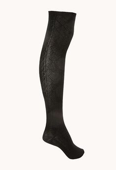Over-The-Knee Cable Knit Socks | FOREVER21 - 2008585504 #ForeverHoliday