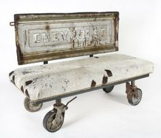 Tailgate bench on casters