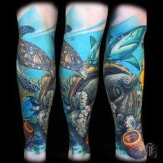 ocean sleeve tattoo - Google Search