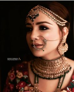 Perfect finishing to a bridal look is given by stunning nose rings! Book the best makeup artist now with BookEventZ to get the perfect bridal look on THE DAY! Pakistani Bridal Makeup, Indian Wedding Makeup, Best Bridal Makeup, Indian Wedding Bride, Indian Bridal Outfits, Bridal Makeup Looks, Indian Bridal Fashion, Indian Weddings, Bridal Lehenga